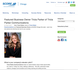 TPC Featured on SCORE Web Site
