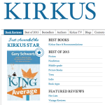 "Kirkus Praises Two TPC Books; ""The King of Average"" Receives Starred Review"