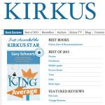 "Kirkus Praises Two TPC Books; ""The King of Average"" Receives Starred Review"