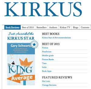 King of Average Kirkus Star