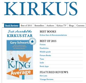 King of Average Kirkus Star